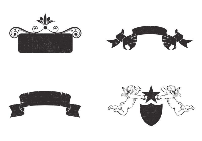vertical ribbon banners vector - download free vector art, stock