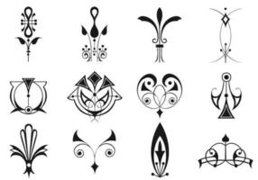 Ornamento Art Deco Vector Pack Dois