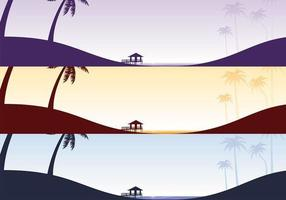 Tropisch Strand Vector Wallpaper Pack