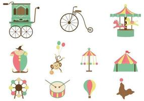 retro circus vector pack