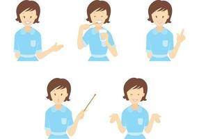 dental assistent vector pack