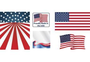 Amerikanska flaggor vektorer