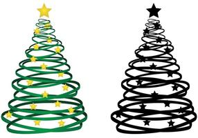 Ribbon-christmas-tree-vector
