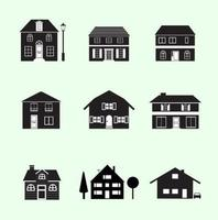 Black-and-white-houses-vector-pack
