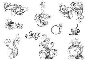 Vectores dibujados a mano del Flourish