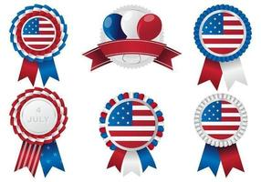 Patriotic Rosettes Vector Pack