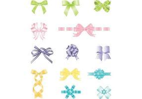 Colorido, arcos, cinta, vector, paquete