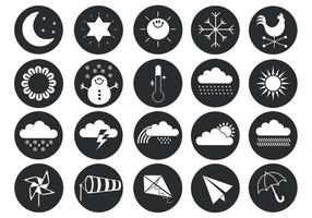 Pack de símbolos del vector del tiempo