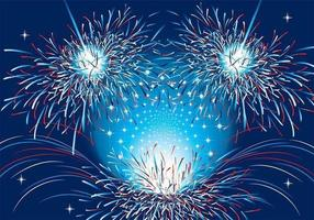 Patriotic-fireworks-vector-background-two