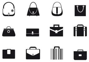 Pacote de vetores de bolsas e bolsas