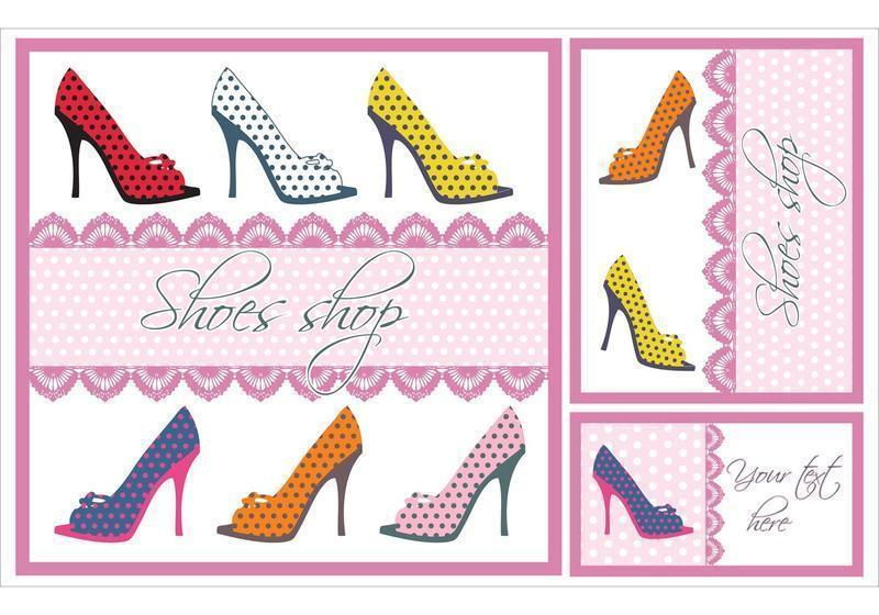 Shoes-vector-card-set