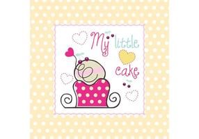 Mein kleiner Kuchen Vektor