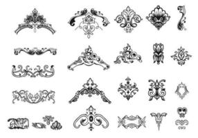 Hand Drawn Vintage Ornament Vector Pack