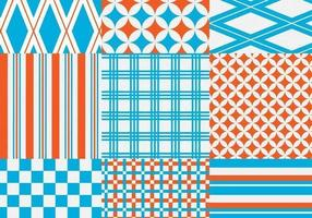 Orange och Blue Geometric Vector Pattern Pack