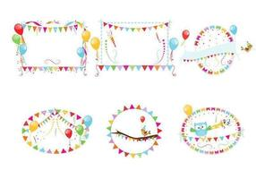 Party Frame Vector Pack