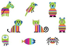 Pack Vector Bright Animal Dos