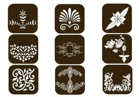 Floral design vector elementen pack