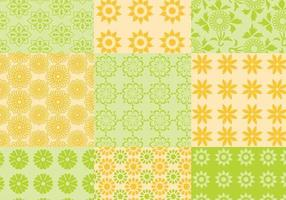 Summer Citrus Pattern Vector Pack