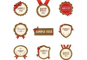 Houten badge Vector Pack