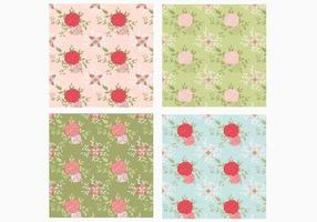 Seamless Rose Pattern Vector Pack