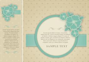 Polka Dotted Floral Frame Vector Pack