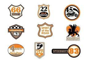 Pacote de vetores de emblemas de motor Raceway