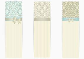 Banner-vector-pack-with-silver-bows
