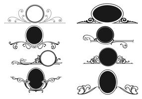 Decorative Swirly Frame Vector Pack