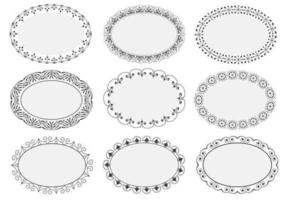 Decoratieve Ovale Frames Vectors