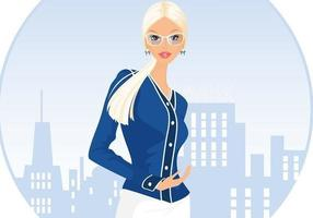 Blond Business Woman Background Vector