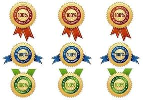 Money Back Guarantee Vector Badges Pack