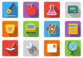 Flat-education-vector-icons-pack