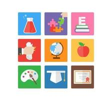 Iconos de Bright Education Vector