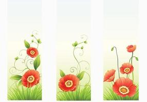 Red-poppy-banner-vectors