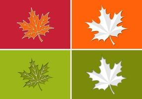 Paper Maple Leaf Vector Pack