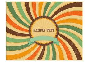 Retro Grungy Sunburst Background Vector