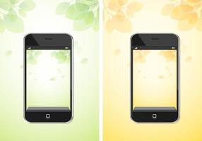 Autumn and Spring iPhone Background Vector Pack