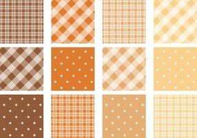 Plaid och Polka Dot Pattern Vector Pack
