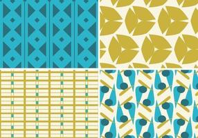 Teal und Gold Funky Pattern Vector Pack
