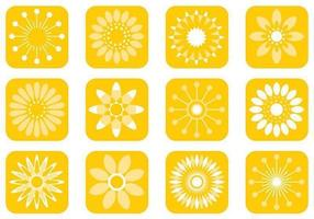 Resumen Sunny Flower Vector Pack