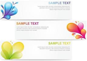 Abstract-bubble-banner-vector-pack