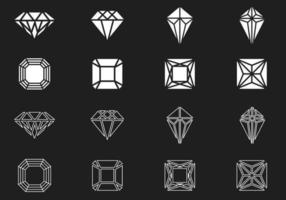 Pack de vectores de diamantes y gemas