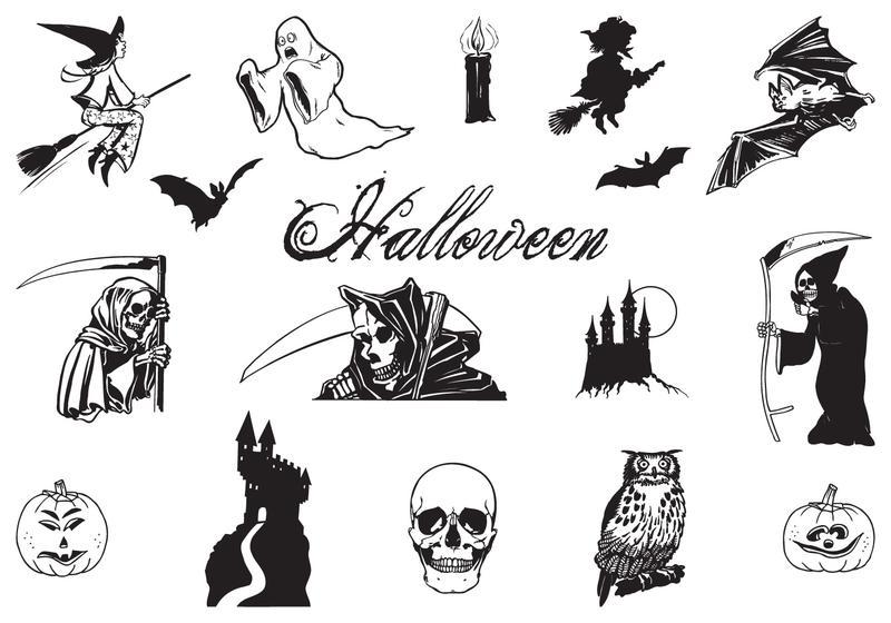Halloween Vectors hand drawn halloween vector pack Hand Drawn Halloween Vector Pack