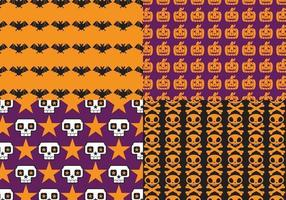 Ljus Halloween Mönster Vector Pack