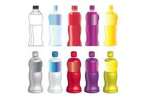8 Juices Bottle Vector Mock Up Set 1
