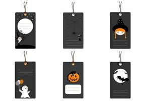 Pack tag vecteur halloween