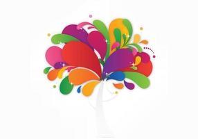 Fundo de vetor abstrato colorido árvore