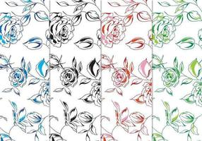 Met de hand geschilderde Floral Vector Background Pack