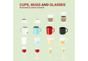 Cups-mug-vectors-and-glasses-vectors