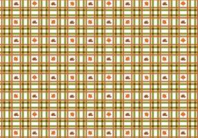 Cute Plaid Fall Vector Pattern